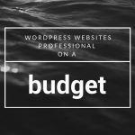 wordpress websites professional websites on a budget